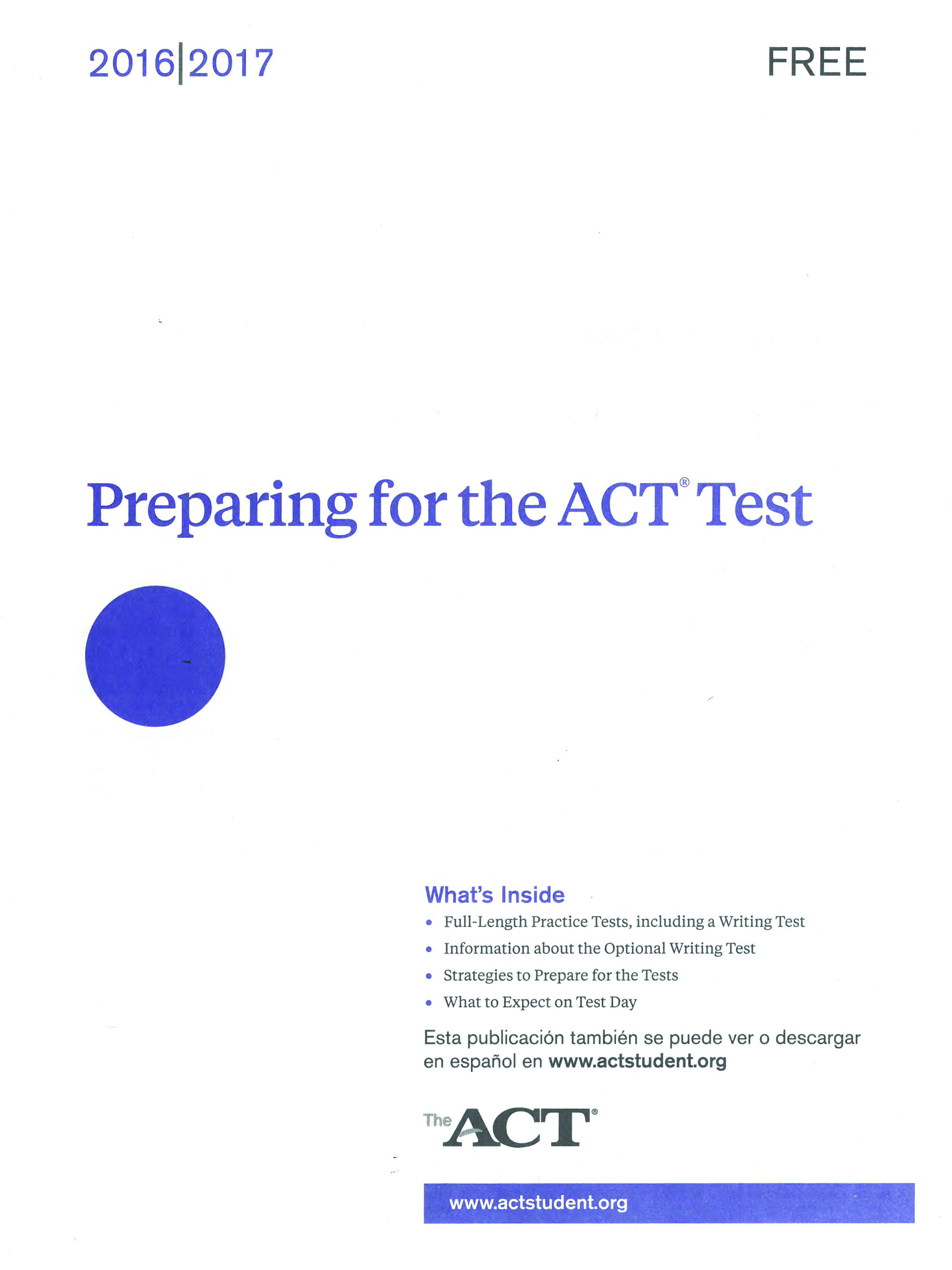 Sample Act Essay Prompts Vatozatozdevelopmentco ACT20practice20test20cover