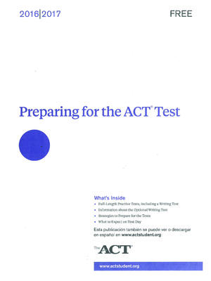 ACT practice test cover