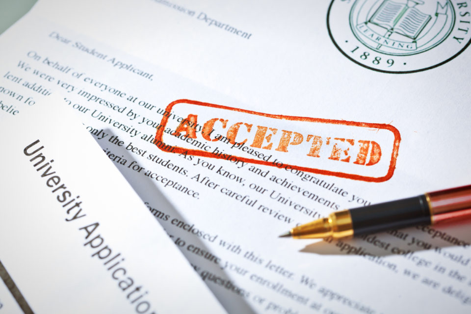 College Acceptance Scandal Applicatioin