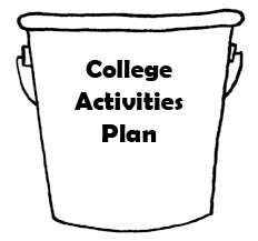 College Activities Plan Bucket