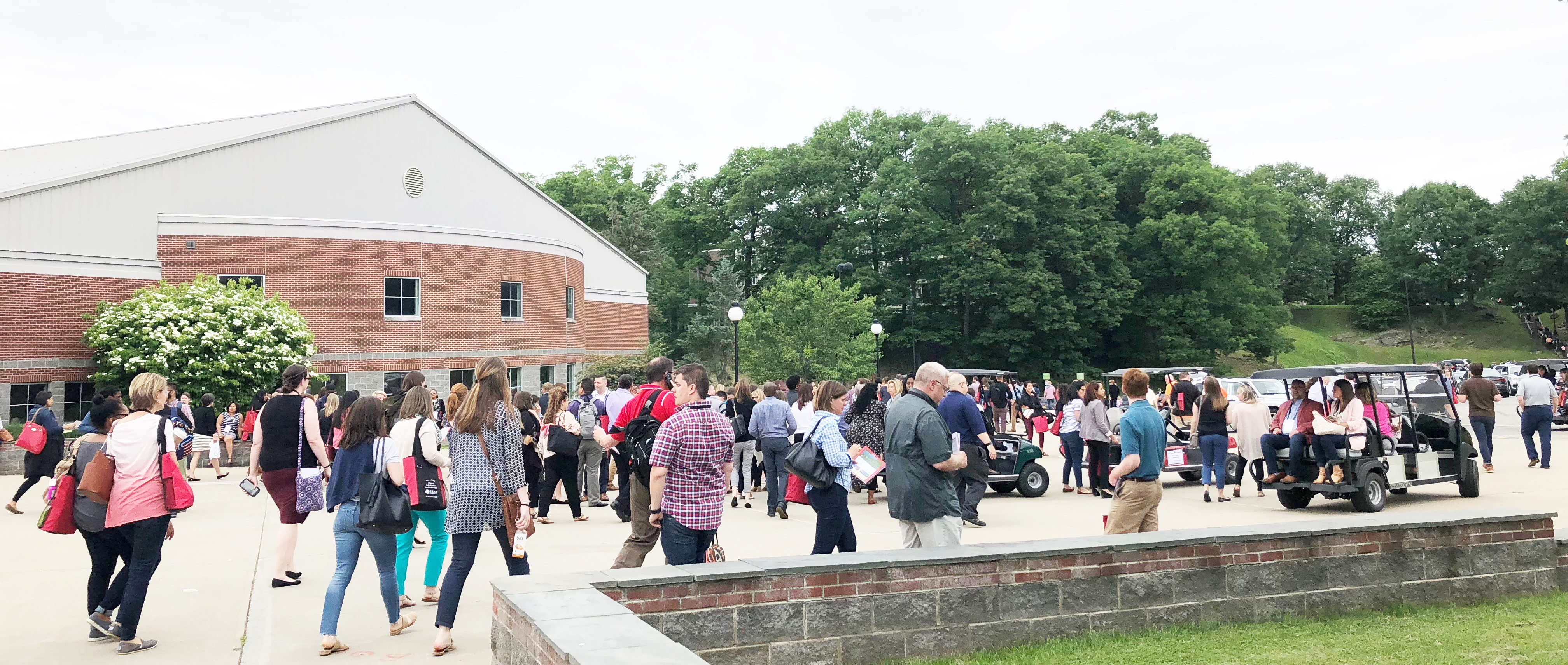 College Campus open house example