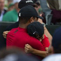 Tiger with his son