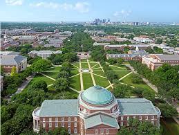 college campus aerial view