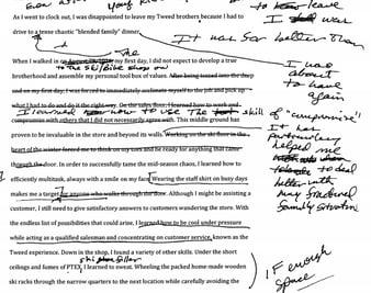 marked up essay