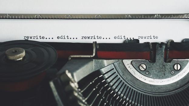 typewriter edit rewrite