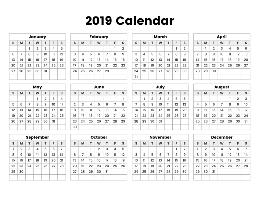 yearly-2019-blank-calendar