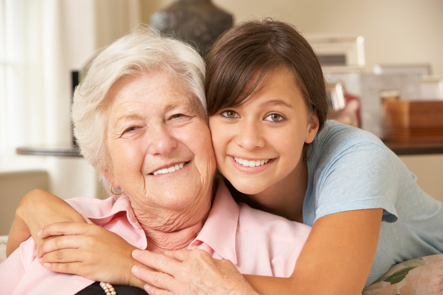 Grandparent with grandaughter student